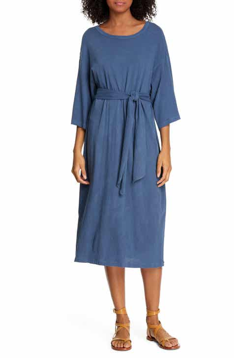 Vince Camuto Ruffle Hem Belted A-Line Dress by VINCE CAMUTO