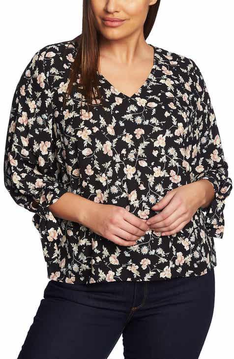 595013dd315 CeCe Duchess Floral Blouse (Plus Size)