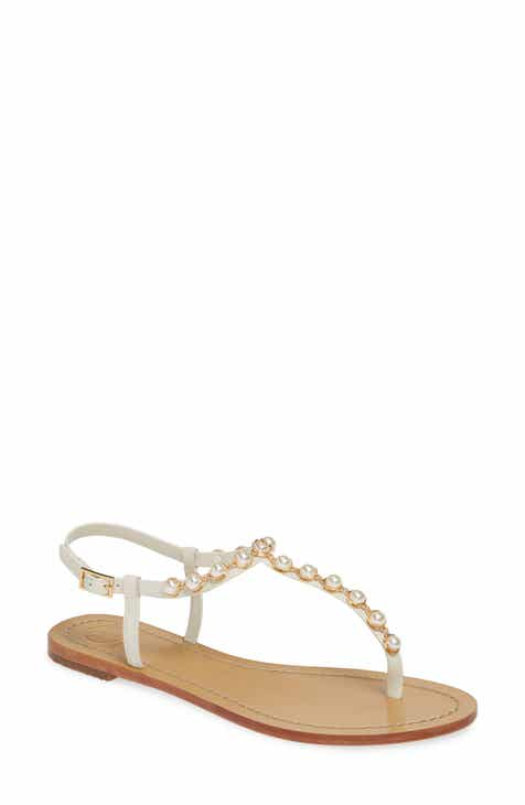 12e22661b Tory Burch Emmy Embellished T-Strap Sandal (Women)