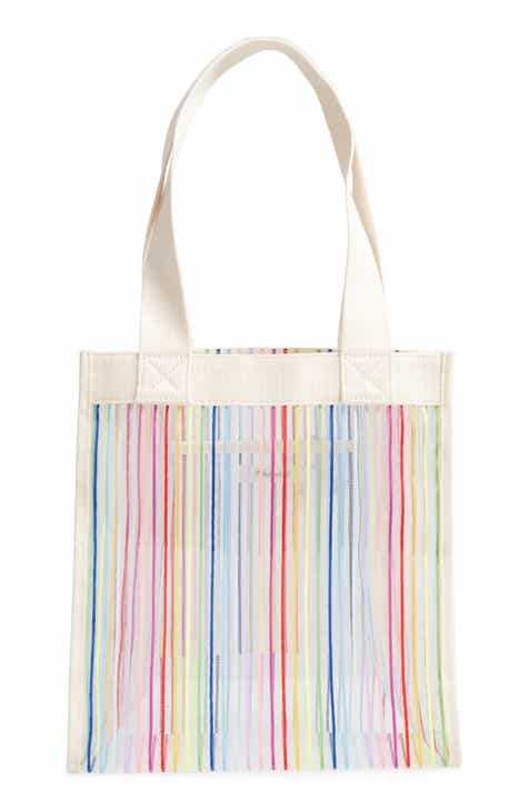 c4a5a9d1542c Madewell The Netting Rainbow Stripe Tote Bag