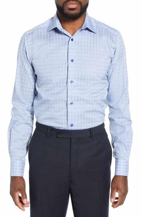 73e4afd2657 David Donahue Regular Fit Plaid Dress Shirt