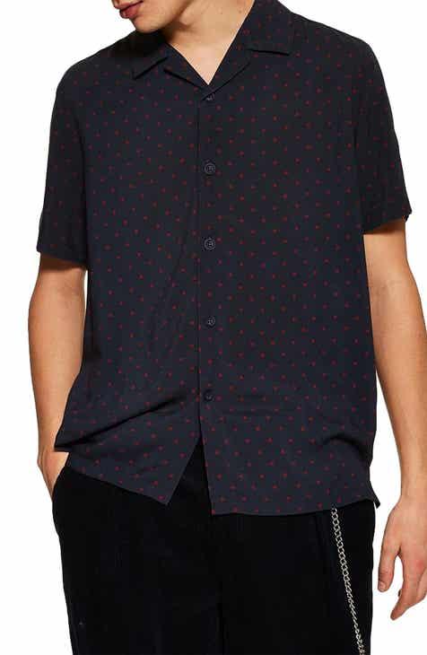 432ce8e0636 Topman Polka Dot Short Sleeve Shirt