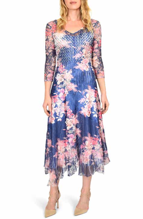 NICHOLAS Floral Print Long Sleeve Silk Minidress by NICHOLAS