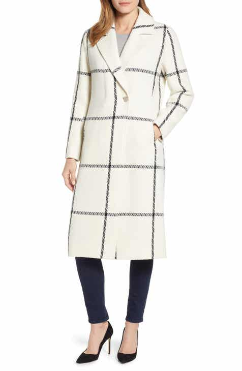 5567cd036b495a Ted Baker London Soniq Check Wool Blend Long Coat