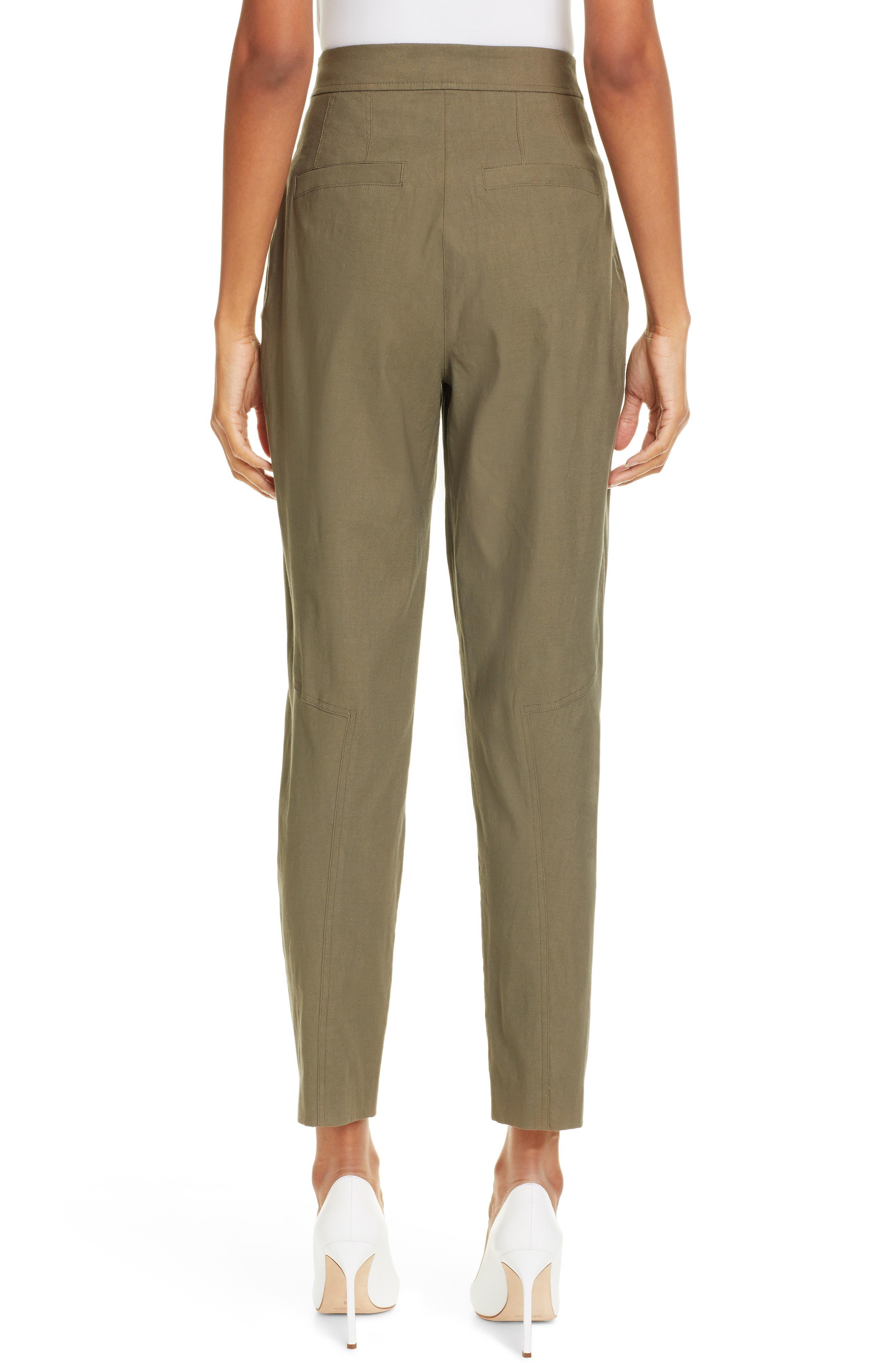 Women's Clothing Lace Up Pants Size 8 Cream Color A.l.c