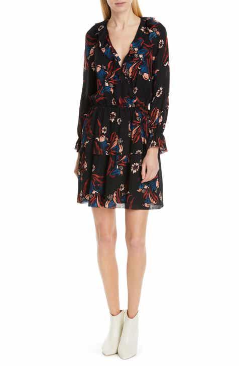 268fe8ca05d Joie Nour Ruffle Neck Silk Dress