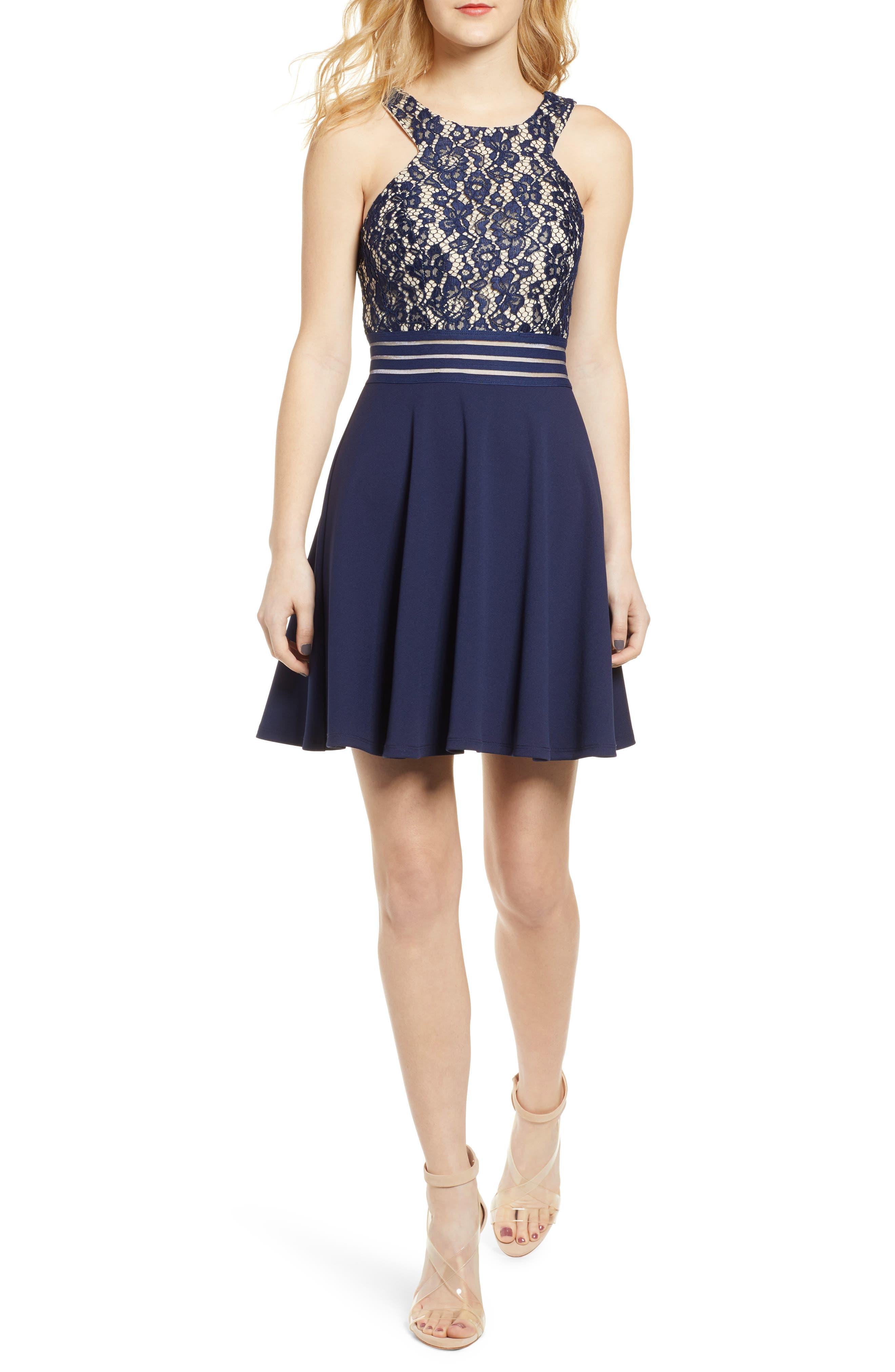 Women's Clothing Faithful Milly New York Navy Blue & White Stretch Knit Mini Skirt Sz S