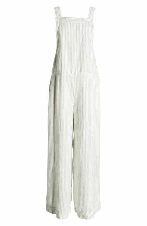 e226d5d6b09 Lou   Grey Wales Stripe Linen Overalls