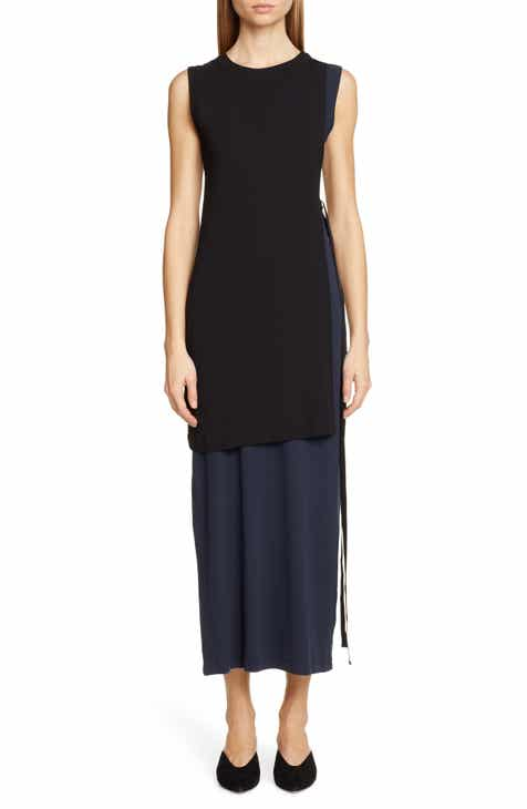 22438c0107358 Rosetta Getty Layered Split Side Cotton Dress