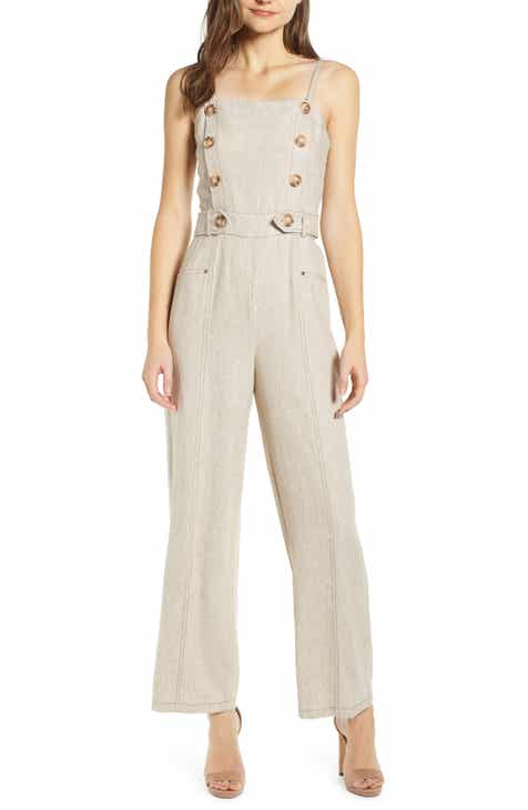 Tahari Tie Waist Crepe Crop Jumpsuit (Regular & Petite) by TAHARI