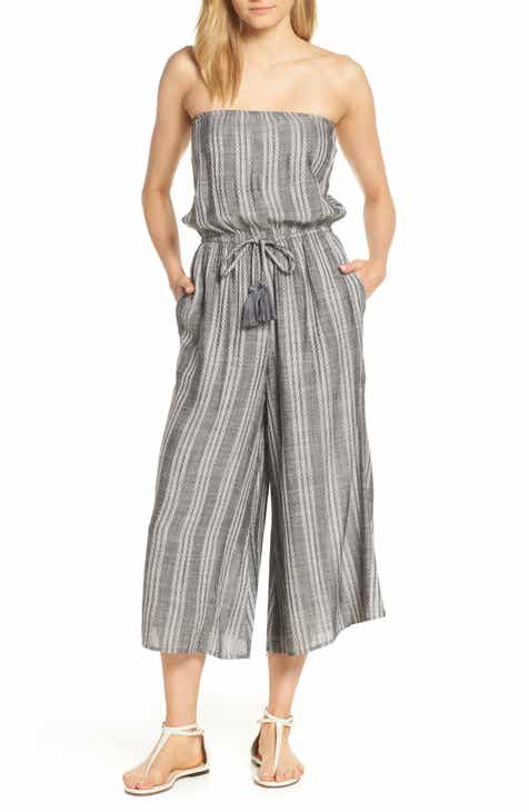 ff4725f2c49 Elan Strapless Cover-Up Culotte Jumpsuit