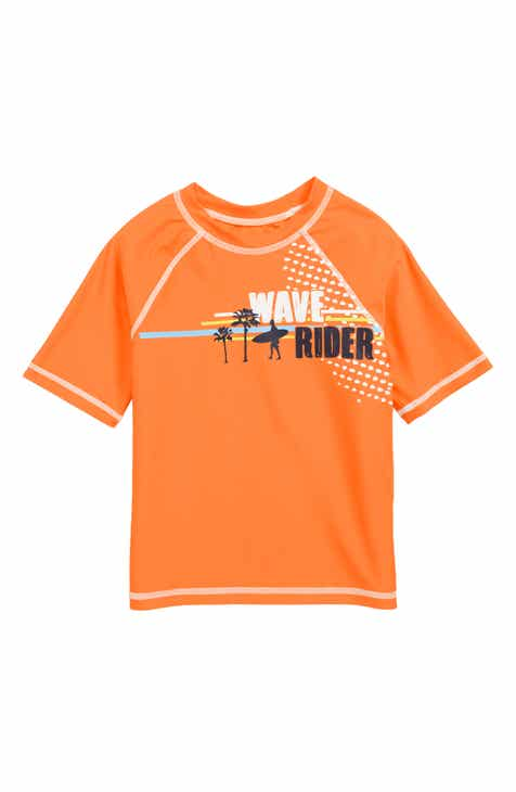 Flapdoodles Wave Rider Rashguard (Toddler Boys & Little Boys)