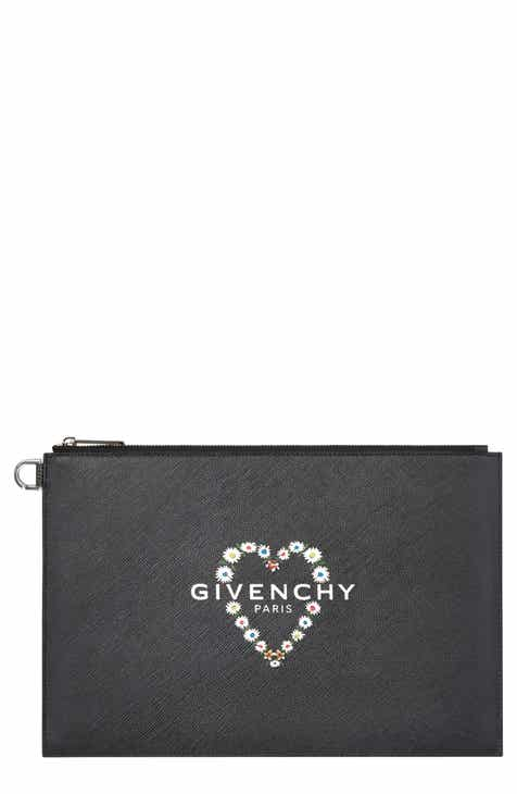 3fa597e4a5f9 Givenchy Medium Flower Heart Logo Pouch