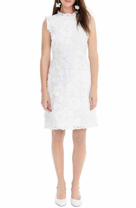 d6d34c94656 J.Crew Floral Lace Appliqué A-Line Dress