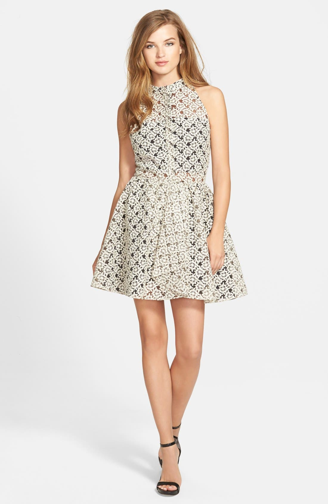Alternate Image 1 Selected - Sam Edelman Pleated Button Front Fit & Flare Dress