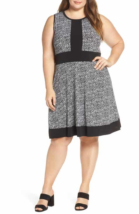 MICHAEL Michael Kors Spring Twist Dress (Plus Size)
