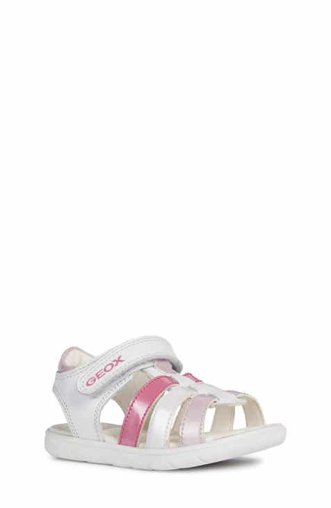 a664f616565 Geox Alul Metallic Sandal (Walker & Toddler)
