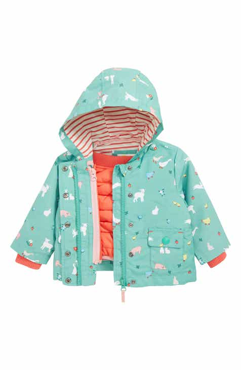 3115938f7cb47 Mini Boden 3-in-1 Farmyard Water Resistant Raincoat (Baby)