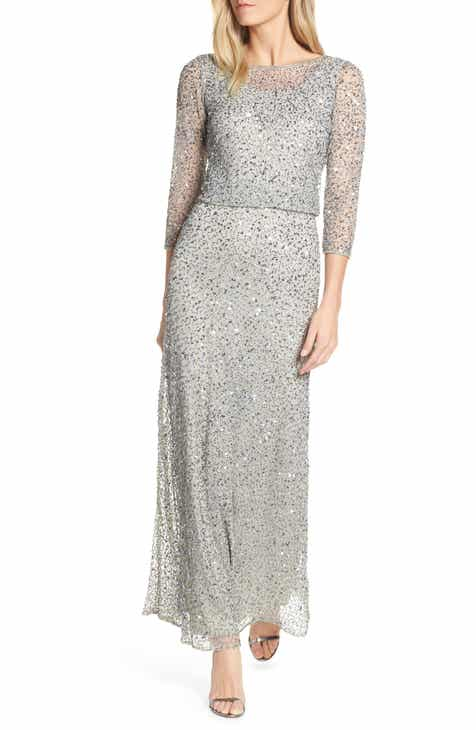90f7d9bc498 Pisarro Nights Embellished Blouson Evening Dress (Regular