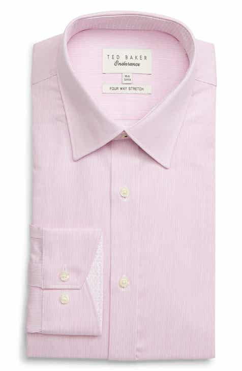 4babbd631f9b9 Ted Baker London Trim Fit Stretch Solid Dress Shirt
