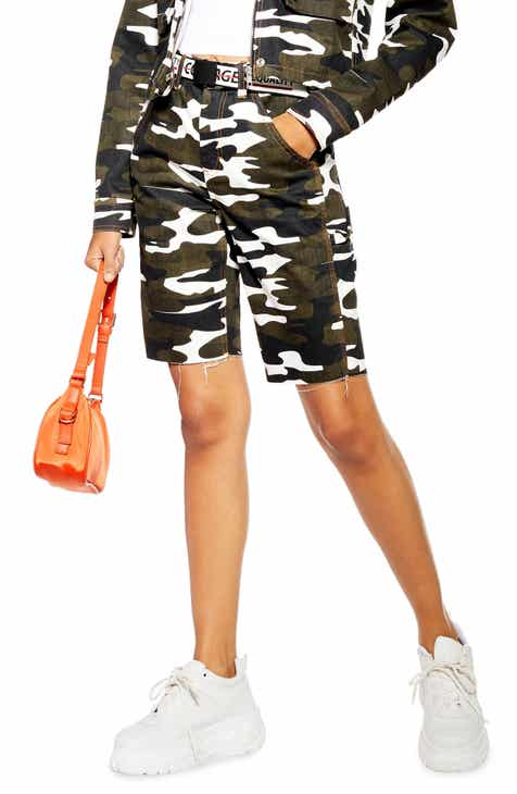 Topshop Camo Bike Shorts by TOPSHOP