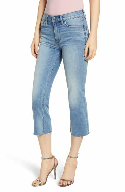 Levi's® 501® Colorblock High Waist Crop Jeans (Sliced & Diced) by LEVIS