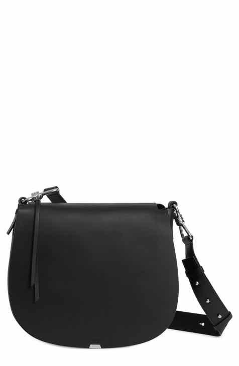 42ff04a1a5560 ALLSAINTS Captain Round Leather Shoulder Bag
