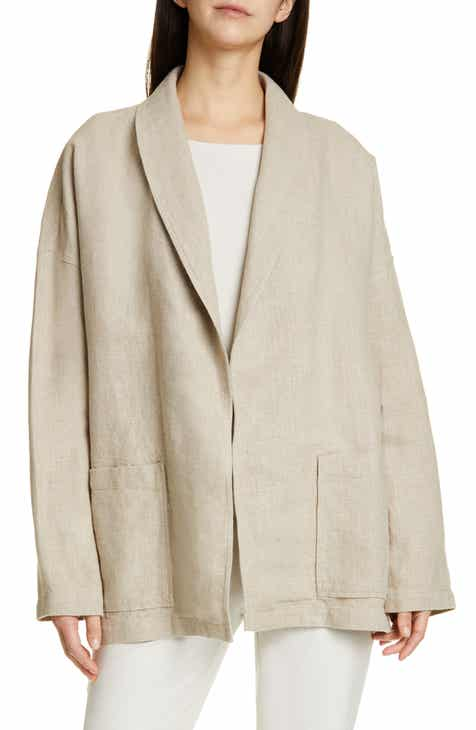 Eileen Fisher Organic Linen Jacket by EILEEN FISHER
