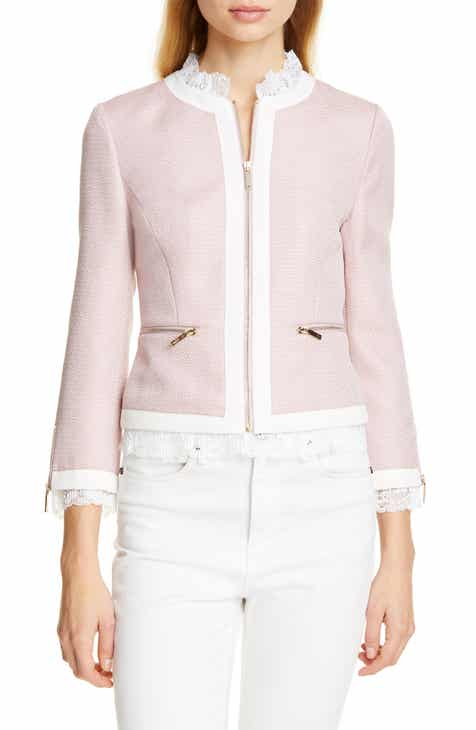 ae6a561e8cc1e Ted Baker London Ennio Lace Trim Woven Jacket