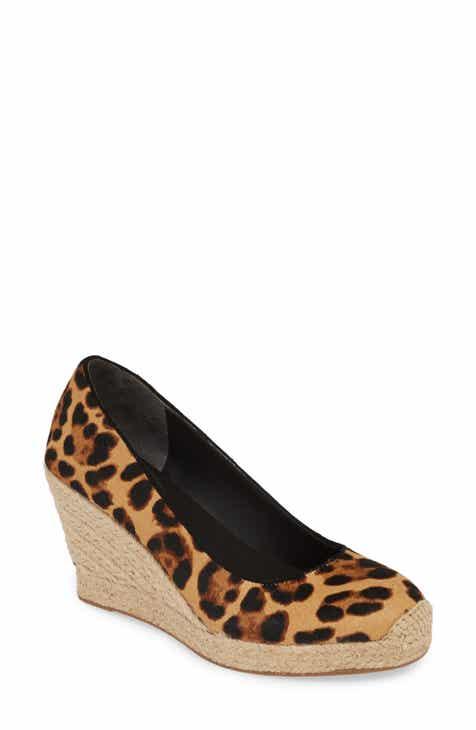 2173e479e8d7 J.Crew Seville Leopard Print Genuine Calf Hair Espadrille Wedge (Women)