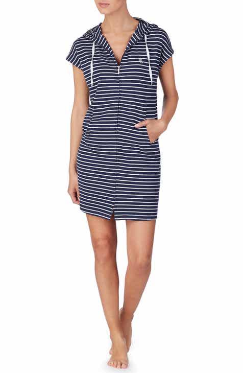 c6166383 Lauren Ralph Lauren Zip Front Hoodie Lounge Dress