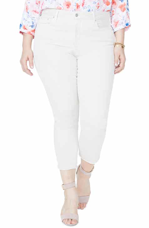 a86e9b4b031fa NYDJ Sheri High Rise Fray Hem Stretch Slim Ankle Jeans (Plus Size)