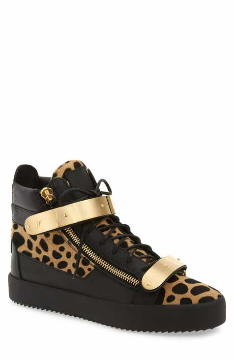 fe0071adb5b1 Giuseppe Zanotti Gold Bar Genuine Calf Hair Sneaker (Men)