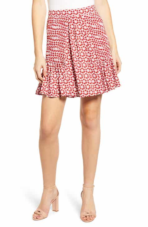 LoveShackFancy Ruffle Floral Silk Miniskirt by LOVESHACKFANCY