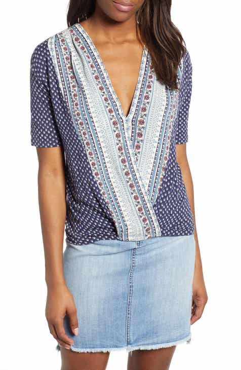 Lucky Brand Faux Wrap Top