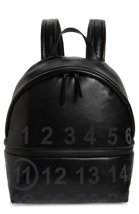 b0e50f39d Maison Margiela Medium Number Print Faux Leather Backpack