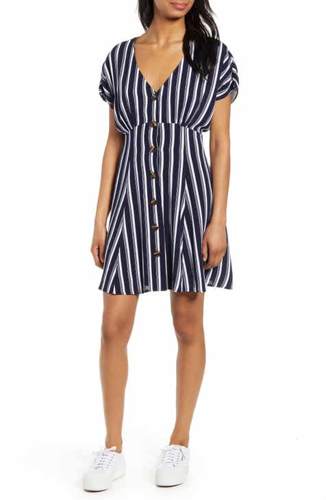 BP. Button Front Prairie Minidress (Regular & Plus Size) By BP by BP 2019 Sale
