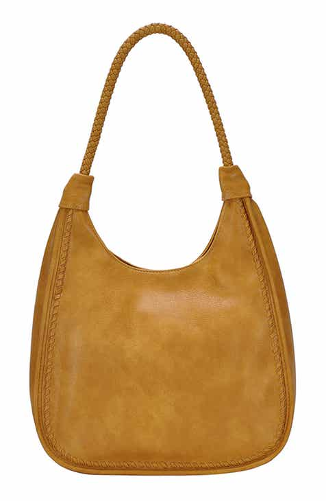 ANTIK KRAFT Braided Handle Faux Leather Hobo f086e0f9d6b5d