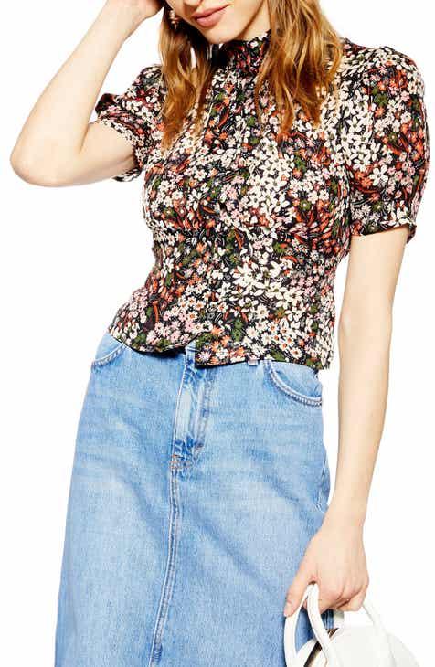 a340849c2e9d3 Topshop Ditsy Floral Print Top