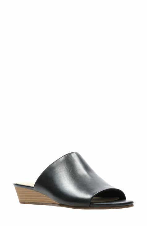 f8118a0cf19 Clarks® Mena Rose Slide Wedge Sandal (Women)