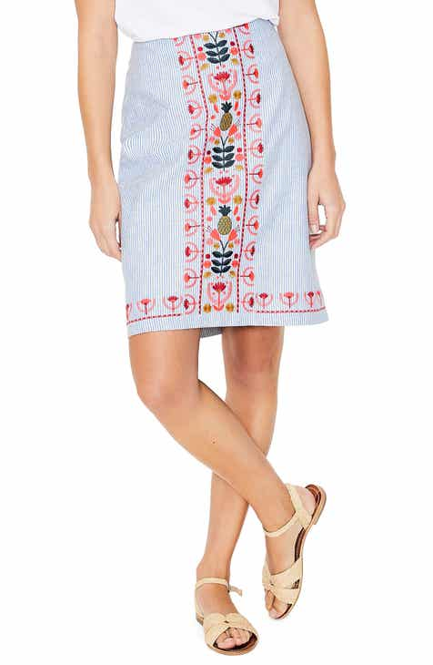 Boden Victoria Embroidered Skirt by BODEN