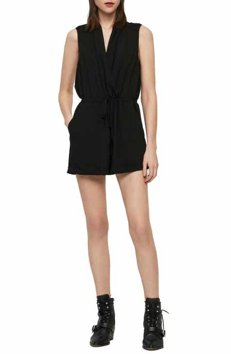 MOON RIVER Tie Detail Minidress by MOON RIVER