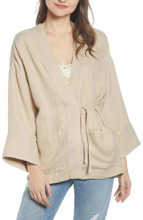 Eileen Fisher Organic Linen Jacket (Plus Size) by EILEEN FISHER