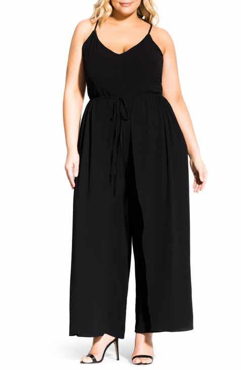8a0df195dc0a City Chic Untamed Wide Leg Jumpsuit (Plus Size)