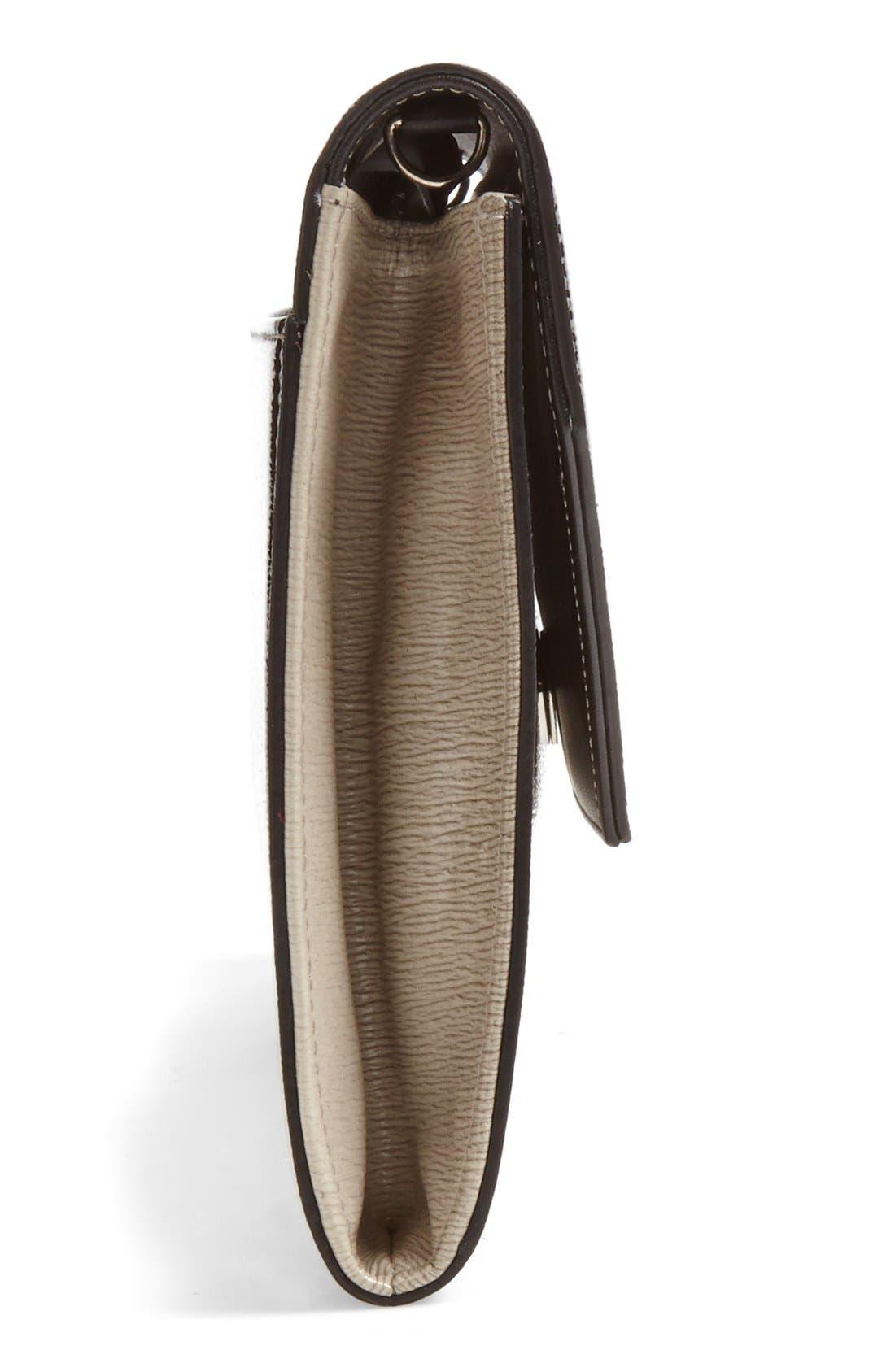 Alternate Image 4  - Halogen® Ombré Leather Envelope Clutch