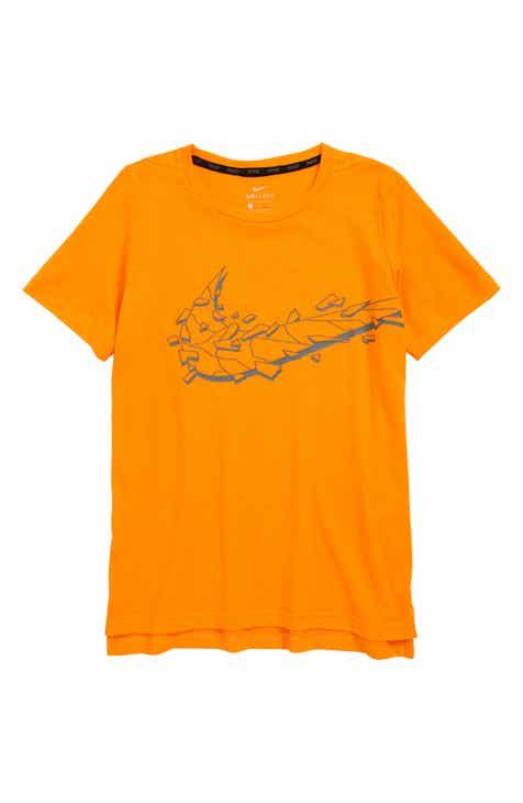 704fca98f29a Nike Dri-FIT Breathe Swoosh Graphic Shirt (Little Boys   Big Boys)