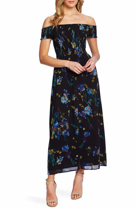 7a112a7f7129 CeCe Off the Shoulder Floral Maxi Dress