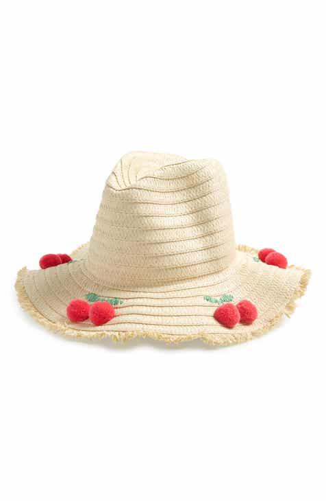 ef65ccbd1eb Mini Boden Cherry Pompom Woven Sun Hat (Girls)