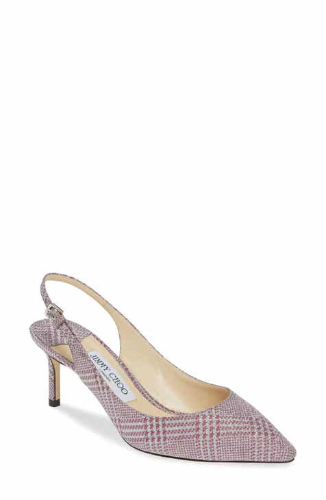 349b12e322 Jimmy Choo Erin Glen Plaid Glitter Slingback Pump (Women)