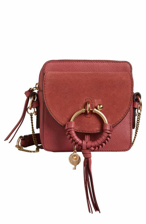 706e0106e5d2 See by Chloé Small Joan Suede   Leather Crossbody Bag